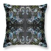 Black Blue Green Throw Pillow