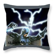 Black Bolt Throw Pillow