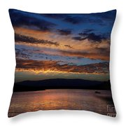 Black Butte Sunset Throw Pillow