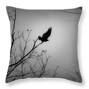Black Buzzard 1 Throw Pillow