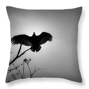 Black Buzzard 5 Throw Pillow