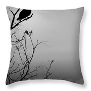 Black Buzzard 7 Throw Pillow