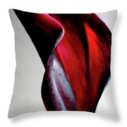 Black Calla Lily Throw Pillow