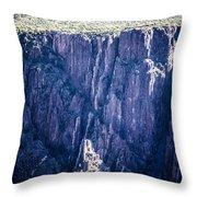 Black Canyon In Colorado Throw Pillow