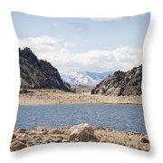 Black Canyon View - Pathfinder Reservoir - Wyoming Throw Pillow