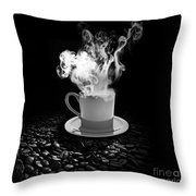 Black Coffee Throw Pillow by Stefano Senise