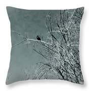 Black Crow White Snow Throw Pillow