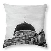 Black Dome Throw Pillow