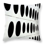 Black Dots Throw Pillow