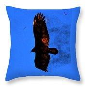 Black Eagles Vision Throw Pillow