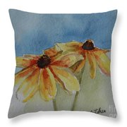 Black Eyed Susan Duet Throw Pillow