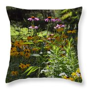 The Field Of Flowers  Throw Pillow