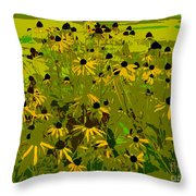 Black Eyed Susan Work Number 21 Throw Pillow