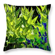 Black Eyed Susans And Lavender Throw Pillow