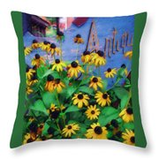 Black-eyed Susans At The Bag Factory Throw Pillow