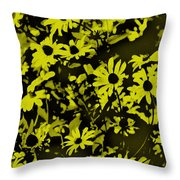 Black Eyed Susan's Throw Pillow
