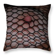 Black Fishnet Throw Pillow