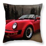 Black Forest - Red Speedster Throw Pillow