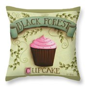Black Forest Cupcake Throw Pillow by Catherine Holman