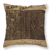 Black Friday, 1869 Throw Pillow