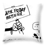 Black Friday Throw Pillow