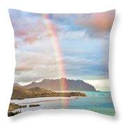 Black Friday Rainbow Throw Pillow