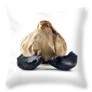 Black Garlic Throw Pillow