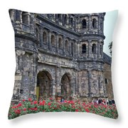 Black Gate Trier Throw Pillow