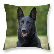 Black German Shepherd Dog Throw Pillow