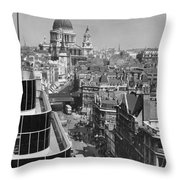 Black Glass Step-backs Of Daily Express Throw Pillow