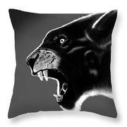 Black Glow Tiger Throw Pillow
