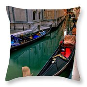 Black Gondola Throw Pillow