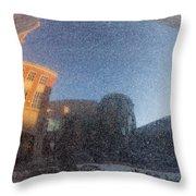 Black Granite Sphere Throw Pillow
