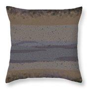 Black Grey Tan Landscape Throw Pillow
