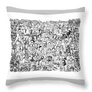 Black Heritage Throw Pillow