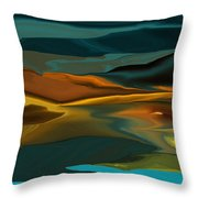 Black Hills Abstract Throw Pillow by David Lane