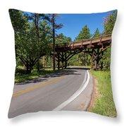 Black Hills Bridge 1 Throw Pillow