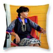 Black Hmong Sapa 1 Throw Pillow