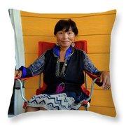 Black Hmong Sapa 3 Throw Pillow