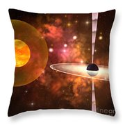 Black Hole Throw Pillow by Corey Ford