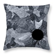 Black Hole - Galvanized Steel - Abstract Throw Pillow