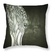Black Horse Sight Throw Pillow