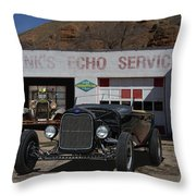 Black Ford Hot Rod Convertible Throw Pillow