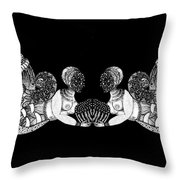 Black Infinity Throw Pillow