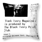 Black Ivory Issue 1 Page 2 Throw Pillow