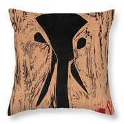 Black Ivory Issue 1 Woodcut Throw Pillow