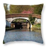 Black Jacks Bridge And Lock Throw Pillow