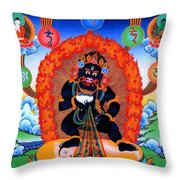 Black Jambhala  1 Throw Pillow