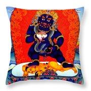 Black Jambhala  8 Throw Pillow