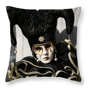 Black Jester Throw Pillow